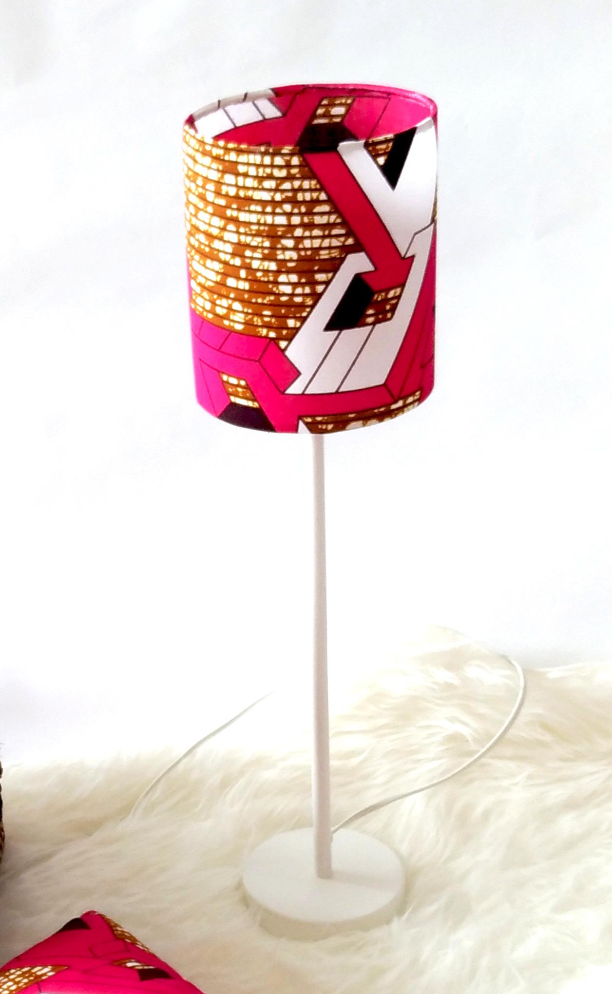 abat jour wax rose iman ka marque afrop enne de cr ation textile pour b b s enfants et pour. Black Bedroom Furniture Sets. Home Design Ideas