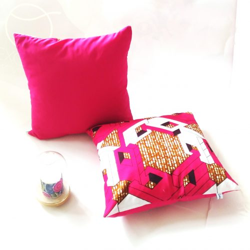 coussin wax rose